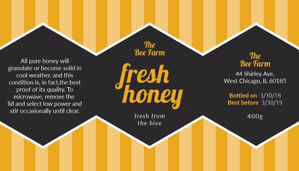 printable honey jar label template