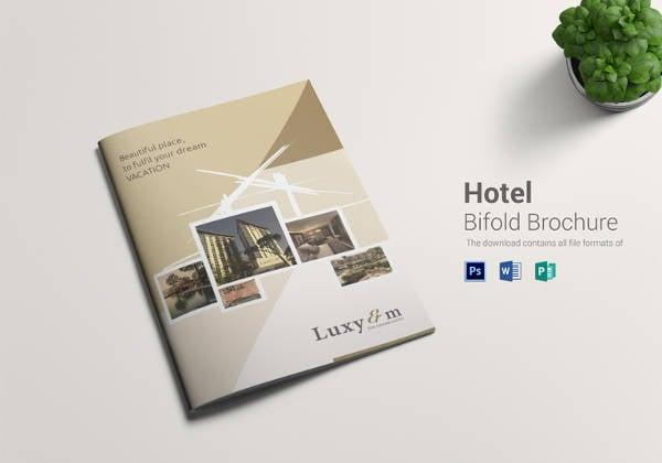 printable hotel bi fold brochure template