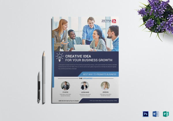 professional business conference flyer template