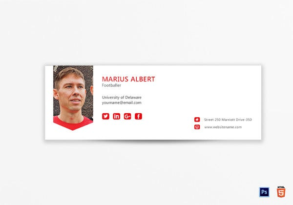professional email signature photoshop template