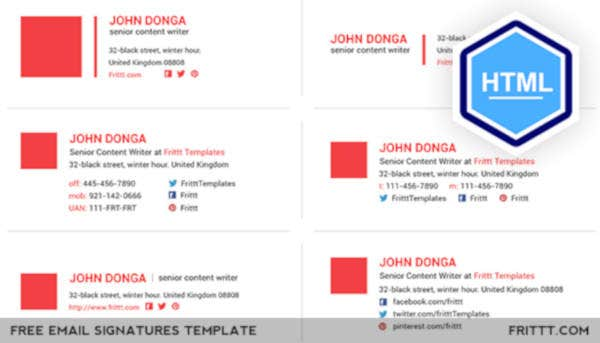 professional free email signatures html template
