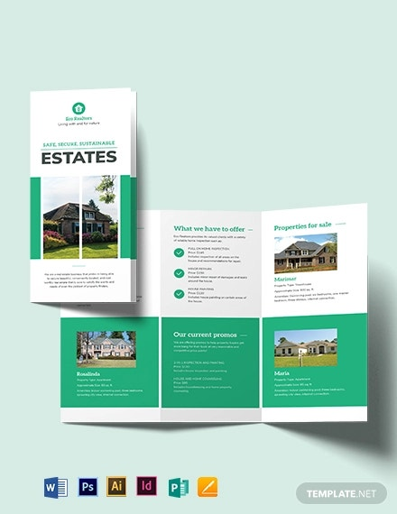 professional home inspector tri fold brochure template