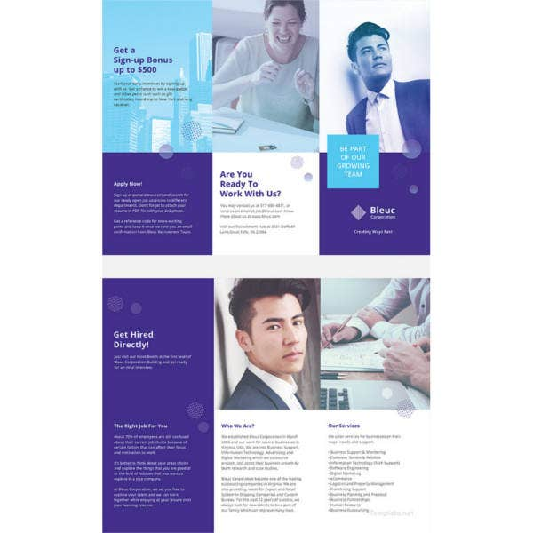 Professional Recruitment: 37+ Professional Brochure Templates