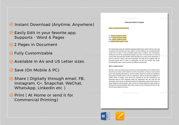 Sample Army Memo Template - 8 Free PDF Documents Download | Free ...
