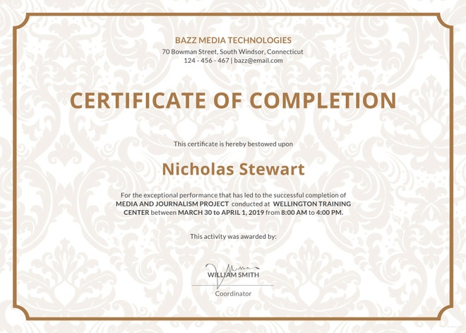 project-completion-certificate-template