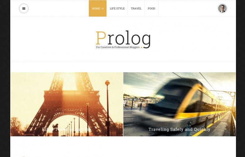 prolog personal creative blog wordpress theme 788x506