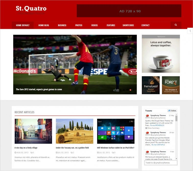 drupal themes free download for 8