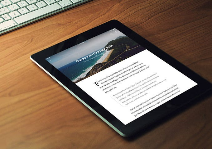 rss reader app – psd