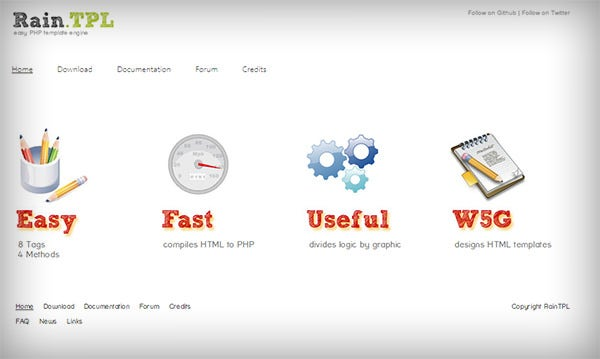 raintpl easy php template engine