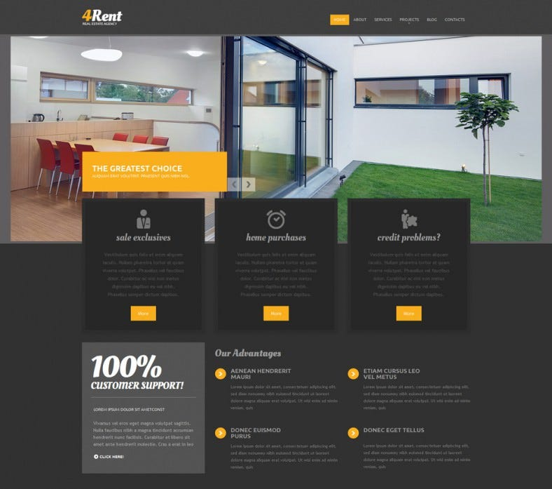 real estate agency responsive drupal template 788x697