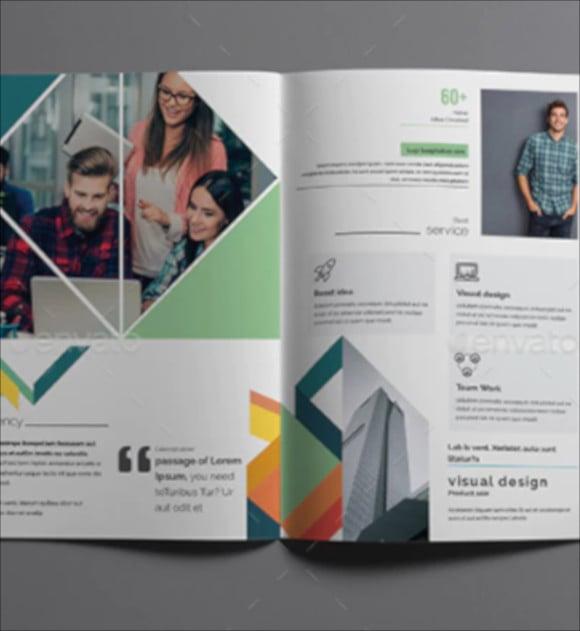 realistic bi fold brochure template