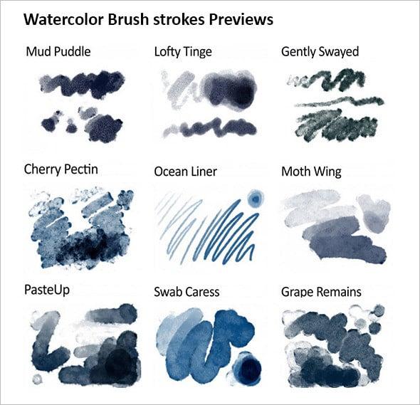 realistic responsive watercolor brushes