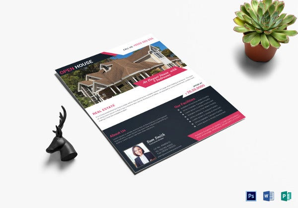 realtor house sale flyer template