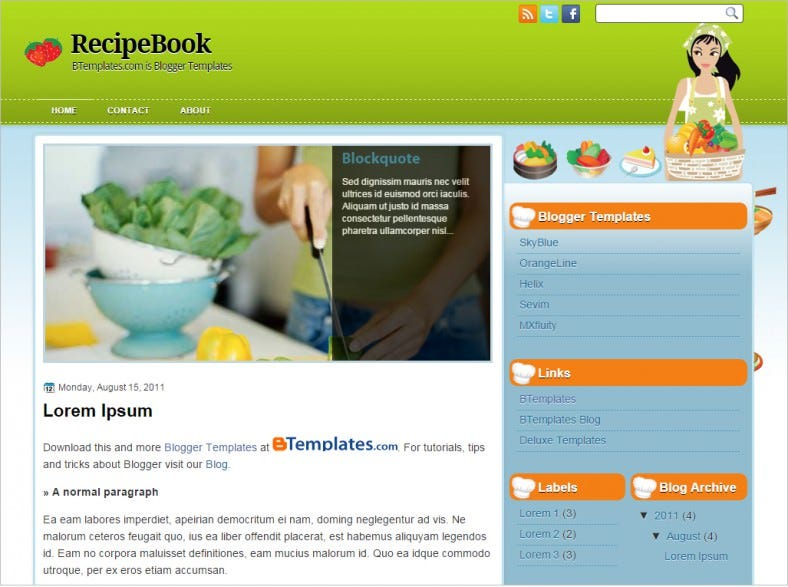 recipe free book blogger theme 788x587