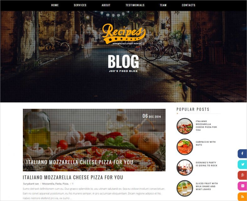 recipes blogger template 788x641