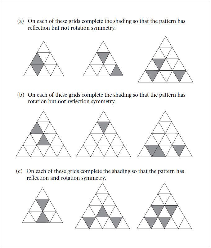 Sample Rotational Symmetry Worksheet – Rotation Worksheets