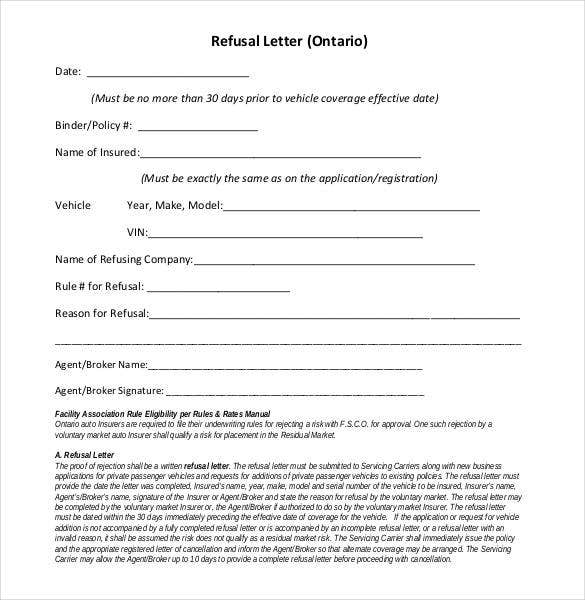 27 Rejection Letters Templates HR Templates – Refusal Letter