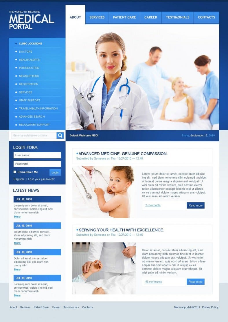 11+ Medical Drupal Themes & Templates | Free & Premium Templates