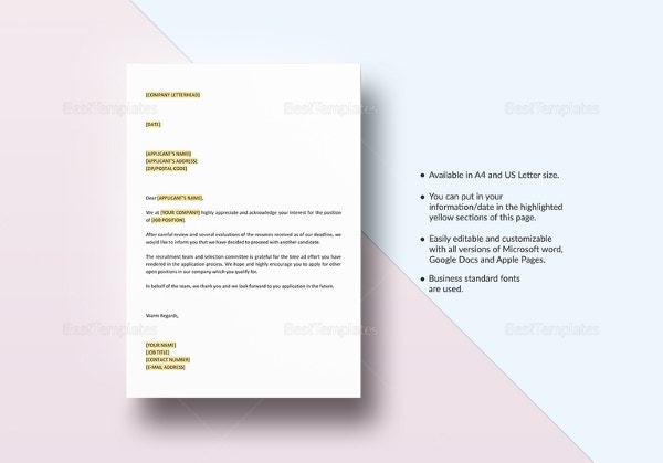 rejection-letter-non-interviewed-applicants-template