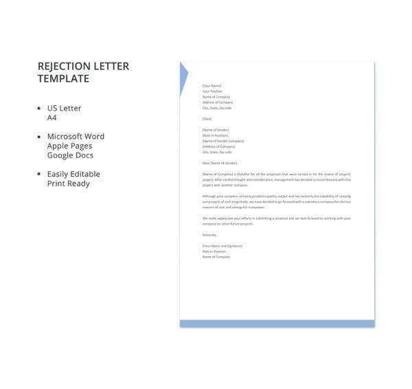 rejection-letter-template