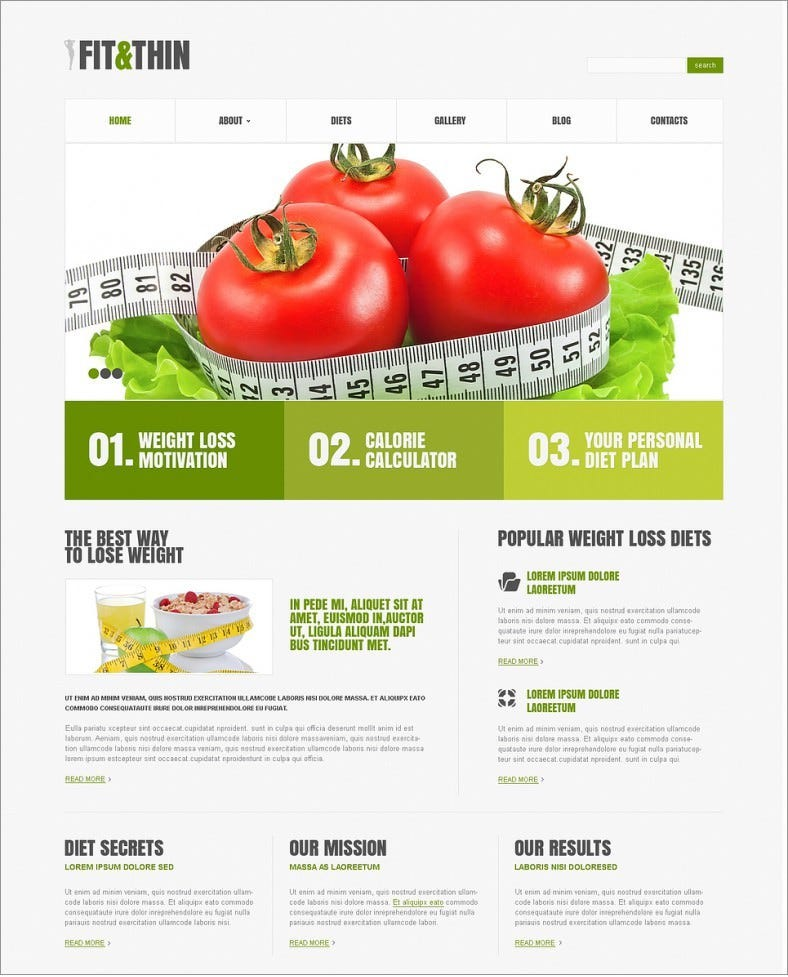 10 Best Diet Nutrition Website Templates Free Premium Themes