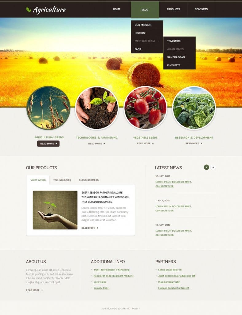 Responsive Agriculture Drupal Template