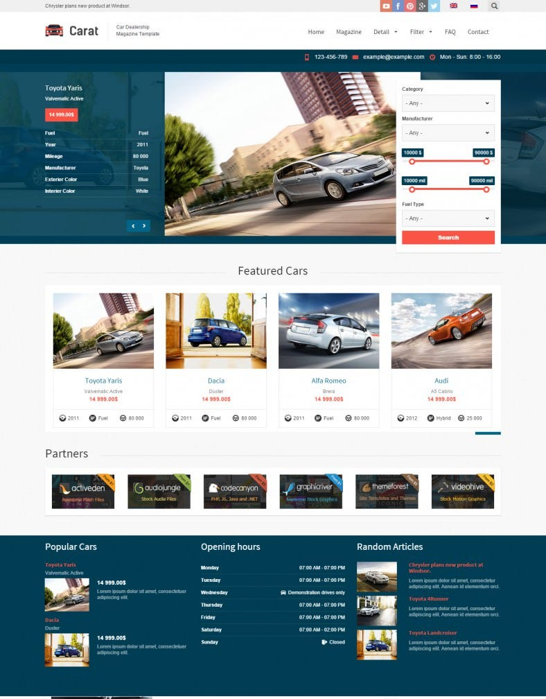 Responsive Automotive Dealer Drupal Theme