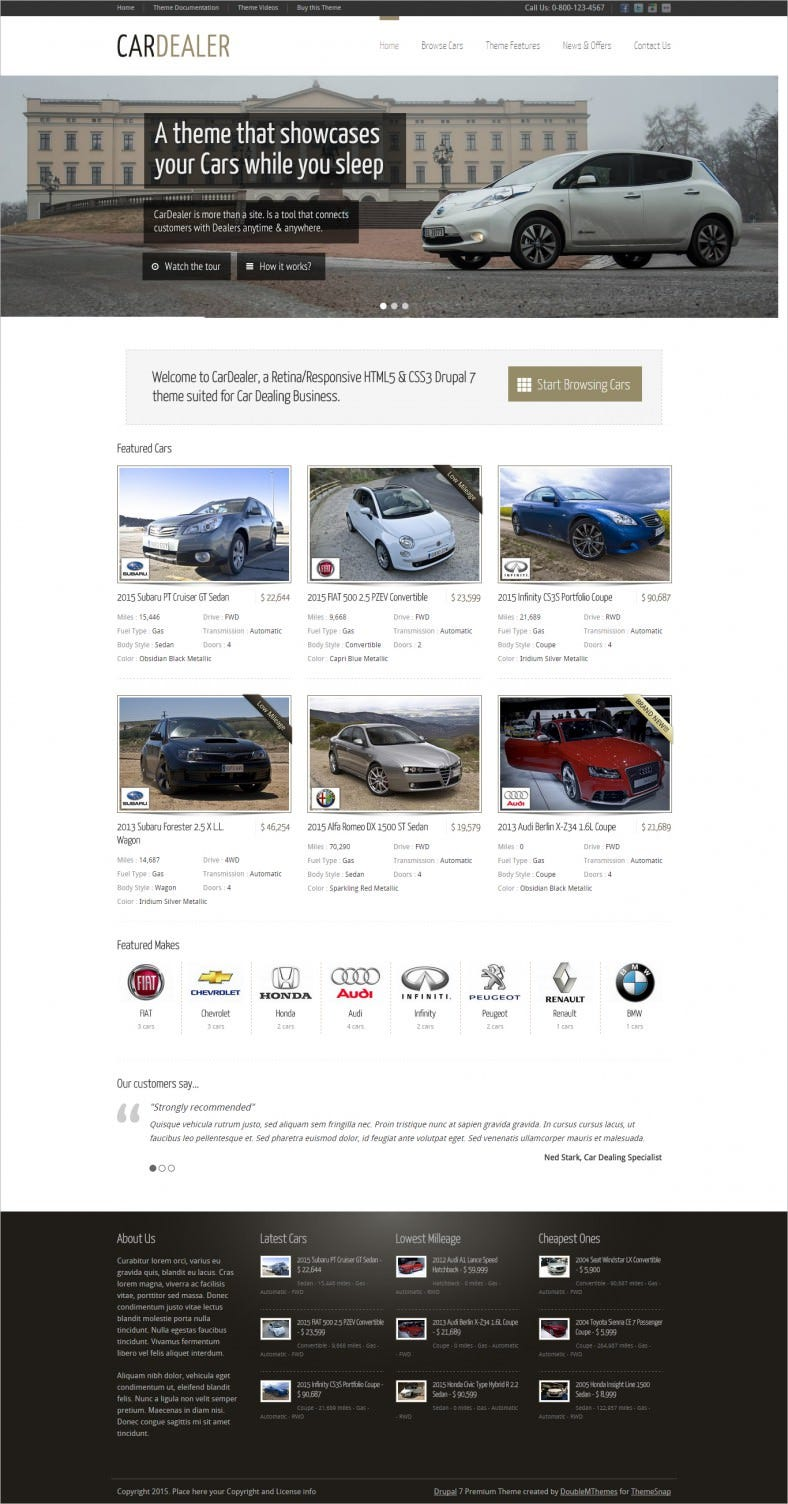 Responsive Car Dealer Drupal Template