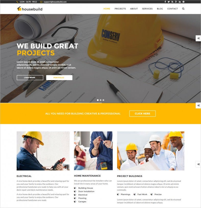 Responsive Construction Drupal Template