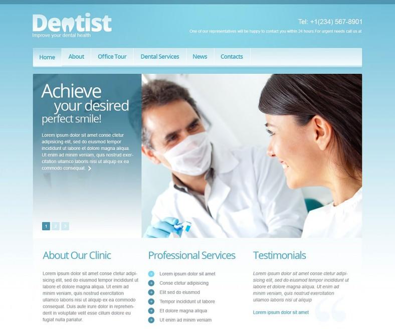 responsive dentistry joomla template 788x656