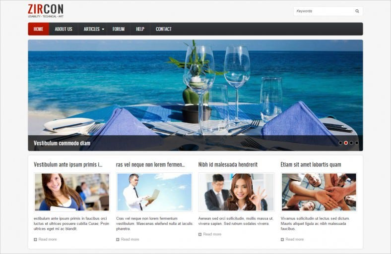 HTML5 & CSS3 Drupal 8 Theme Free Download