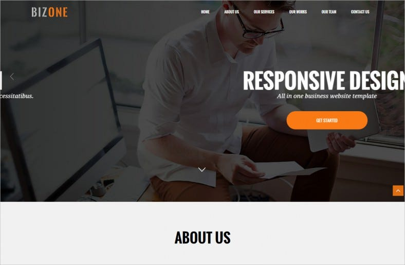 responsive drupal one page theme 788x515