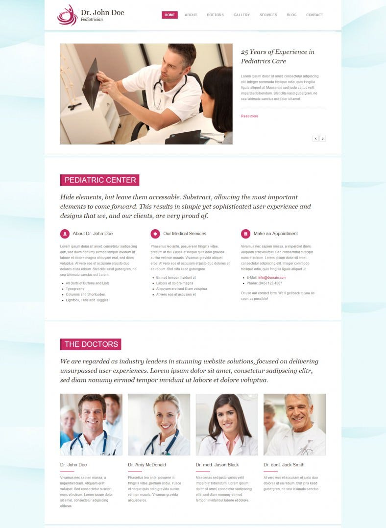 Responsive Drupal One-page Health Template