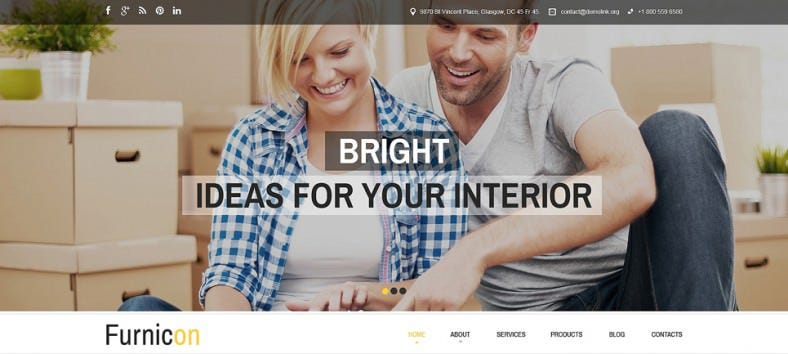Responsive Drupal Template for Interior Design