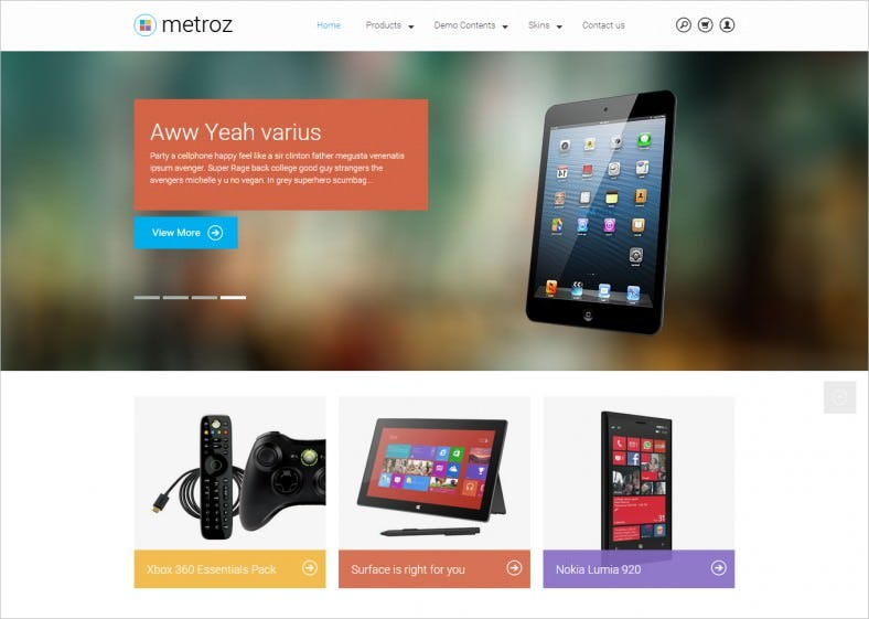 responsive drupal template for mobile store 788x561