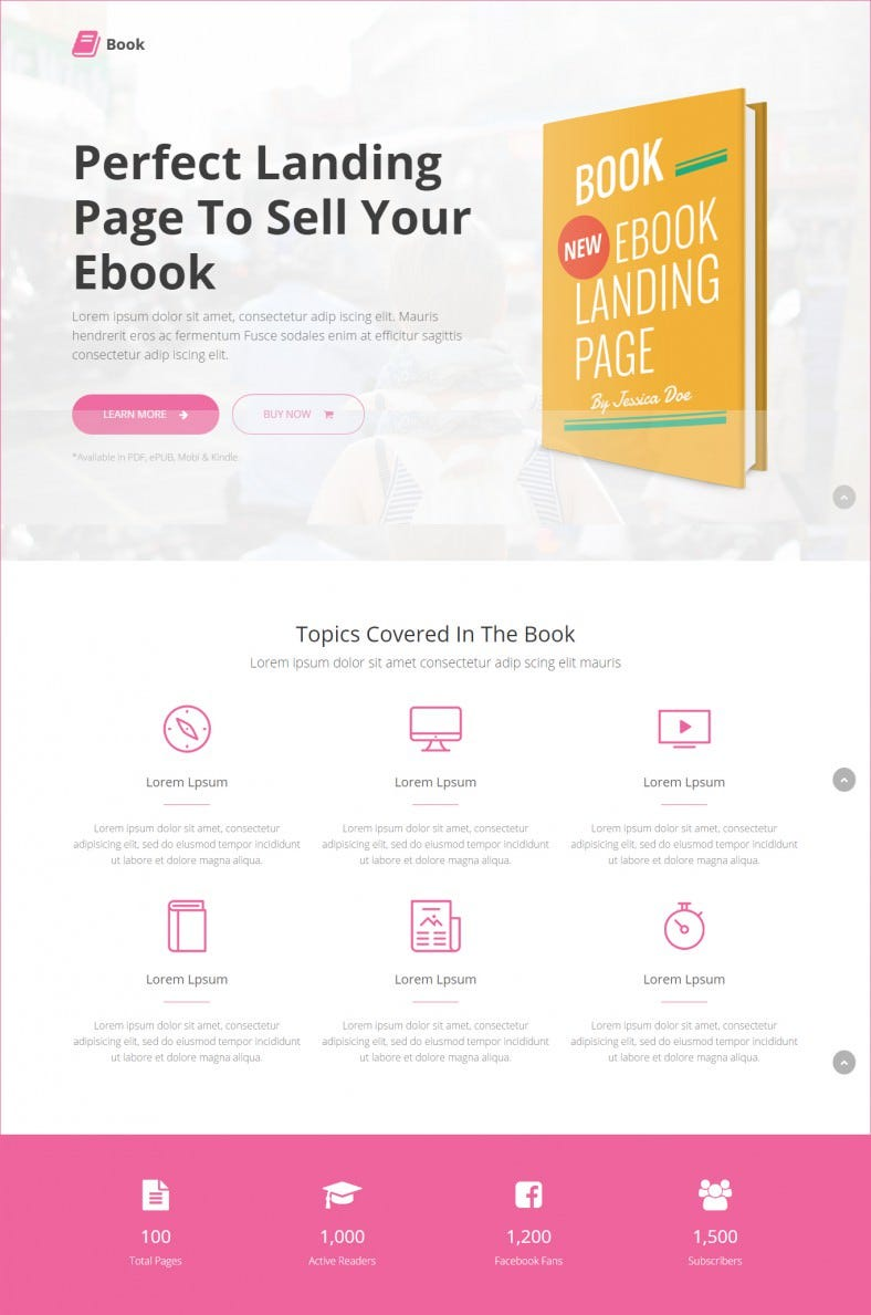 eBook Landing Page Templates & Themes | Free & Premium | Free ...