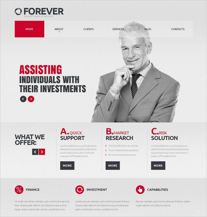 responsive financial advisor joomla theme 75 788x828
