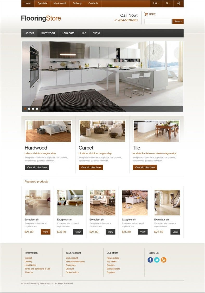 Flooring prestashop website templates & themes | free & premium.