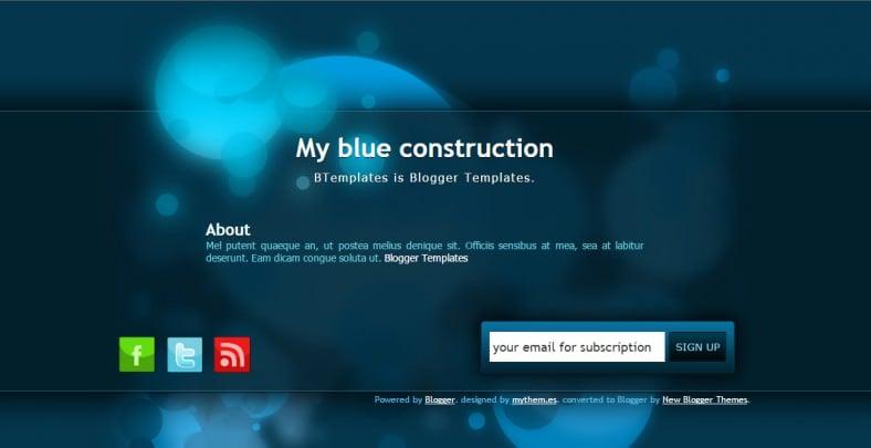 responsive free blue blogger theme 788x405