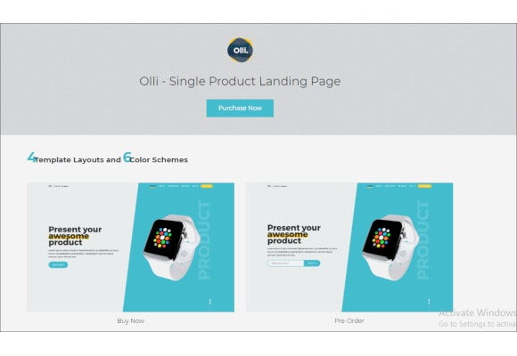responsive html5 single product landing page template