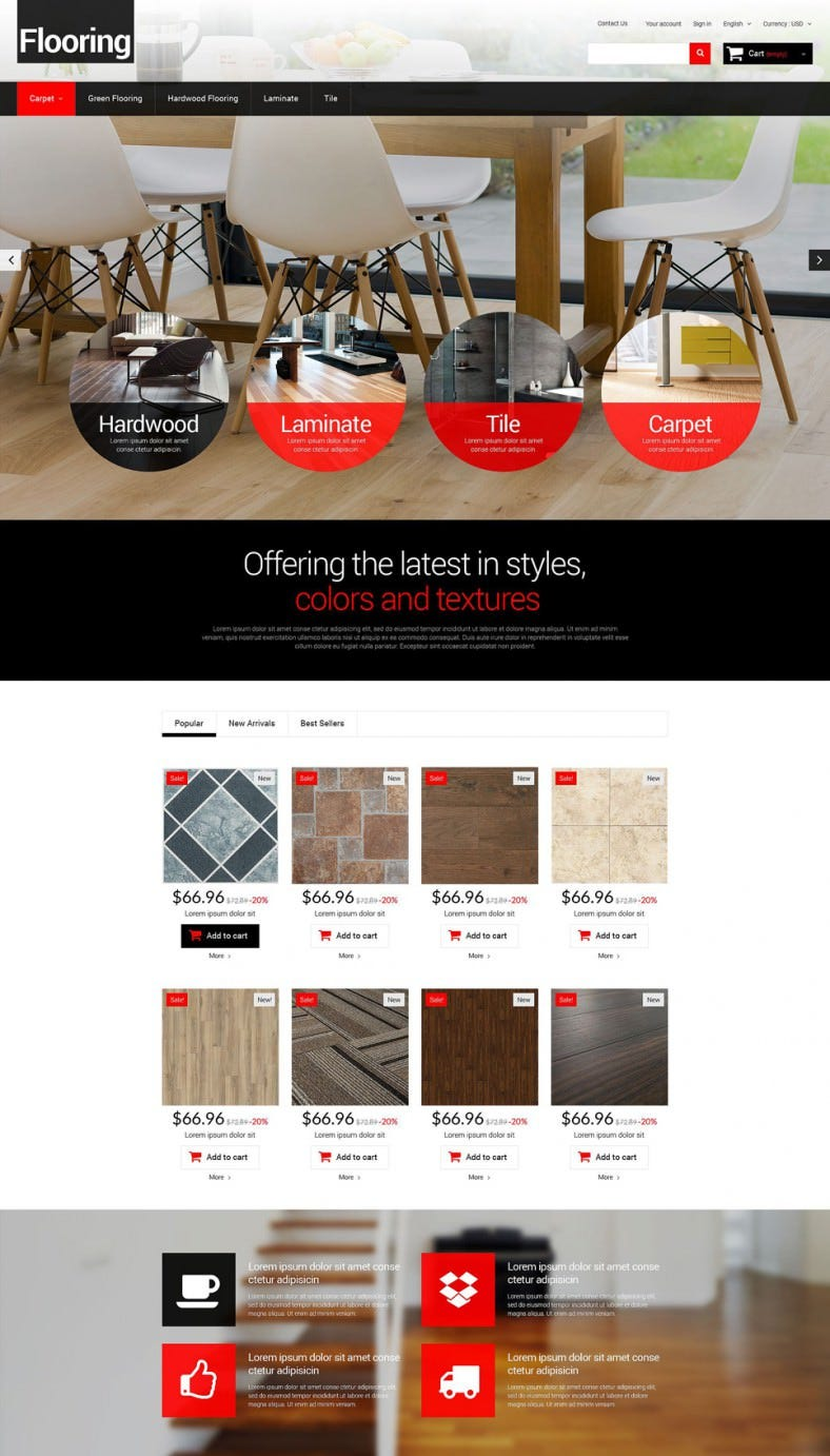 Flooring Prestashop Website Templates Themes Free Premium