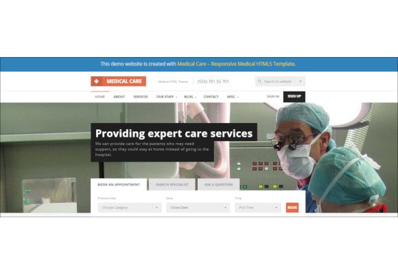 responsive medical html5 website template