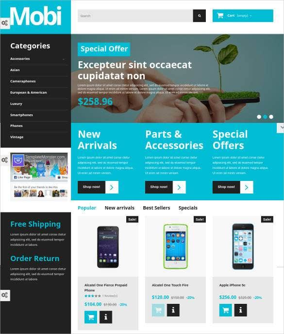 responsive mobiles prestashop theme1