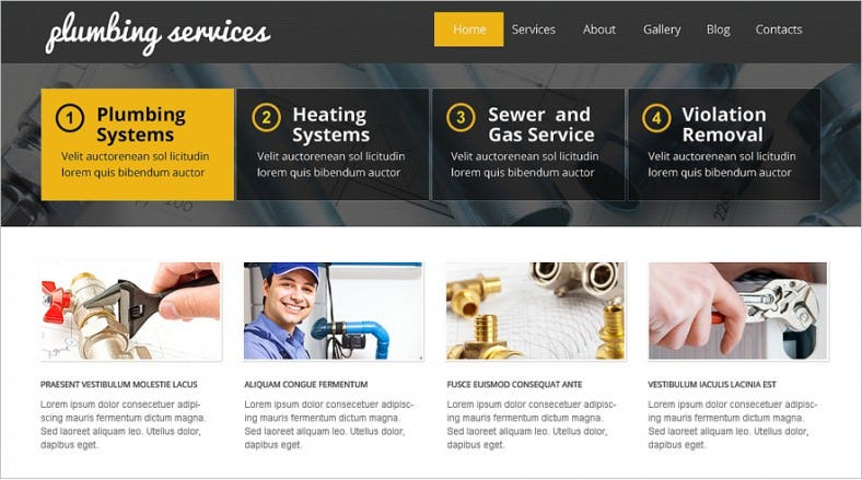 19 Amazing Plumber Website Themes Templates Free