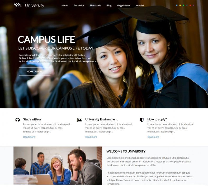 responsive student joomla theme 59 788x710