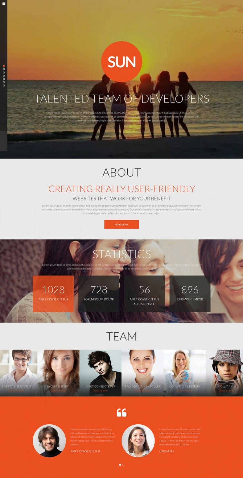 responsive video background website template 788x1549