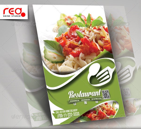 restaurant flyer menu card template download