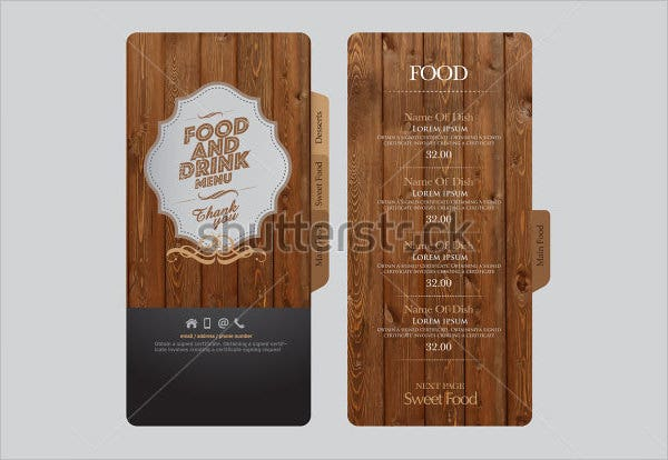 restaurant food menu template