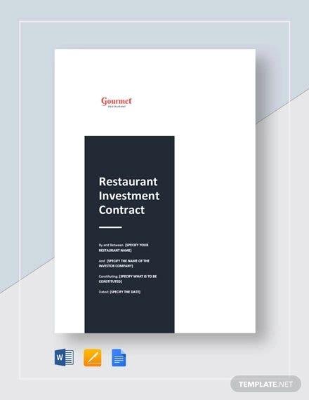 restaurant-investment-contract-template