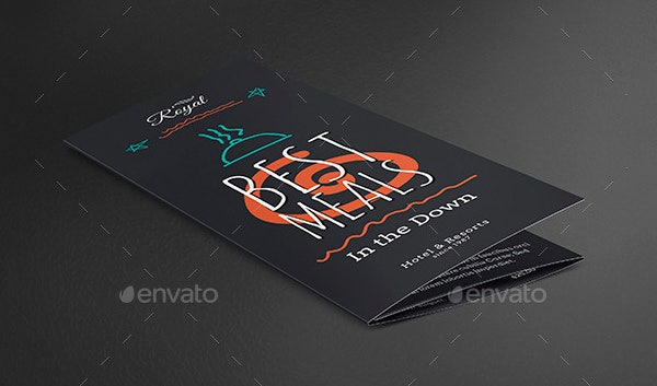 restaurant trifold food menu template